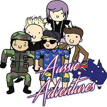 Aussie Adventures T-Shirt by Ambru