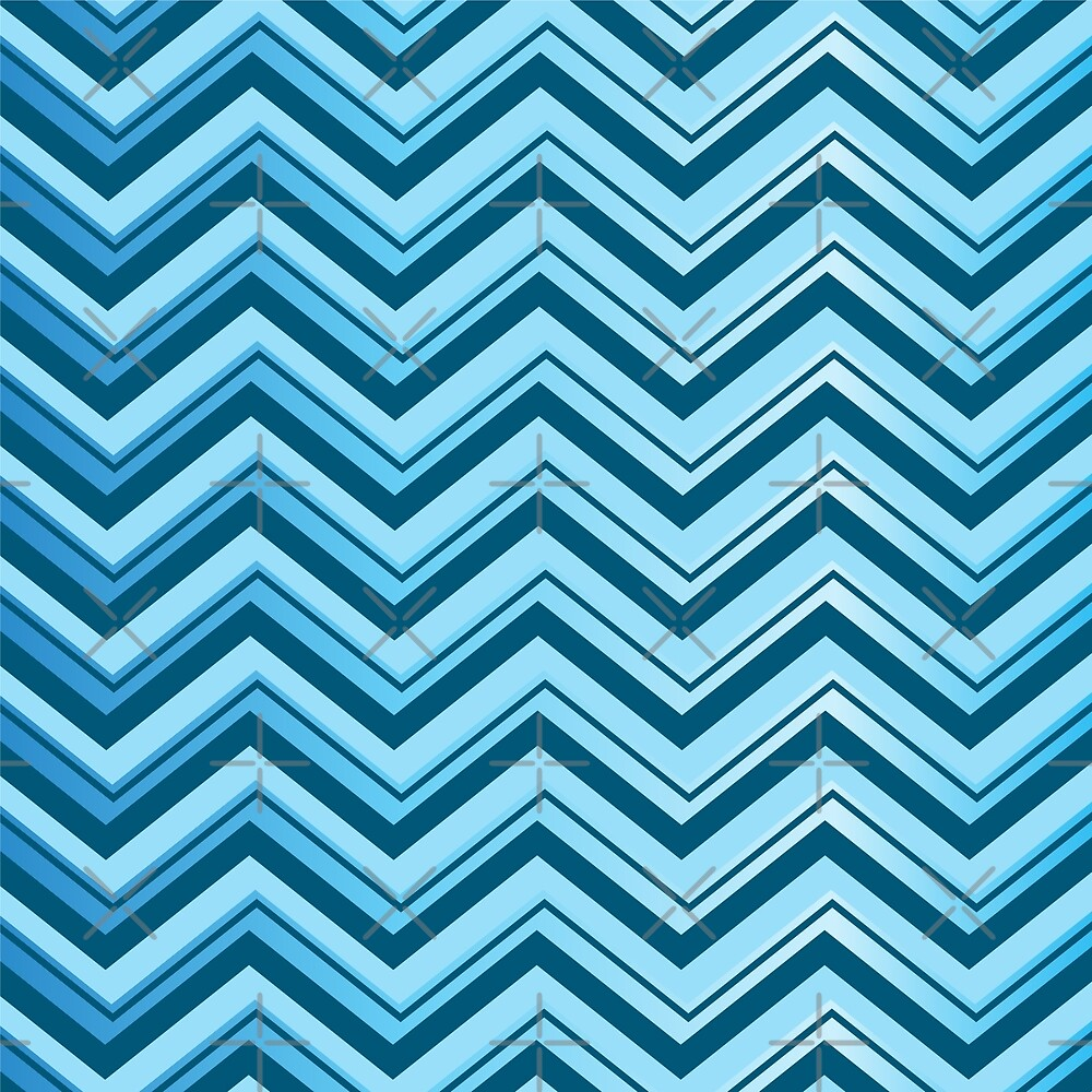 blue shade lines chevron pattern style by jennythip