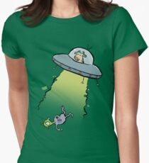 alien abduction Women's Fitted T-Shirt