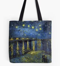 1888-Vincent van Gogh-Starry Night-72x92 Tote Bag