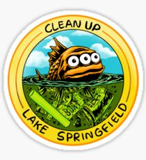 Clean Up Lake Springfield! Sticker