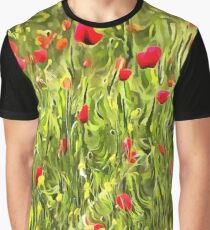 Surreal Hypnotic Poppies Graphic T-Shirt