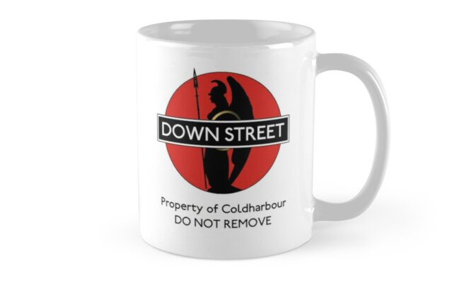 Black Stations - Down Street (Mug) by thetowerofstars