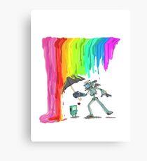 Robo Rainbow Respite Canvas Print