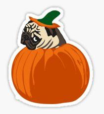 pumpkin pug Sticker