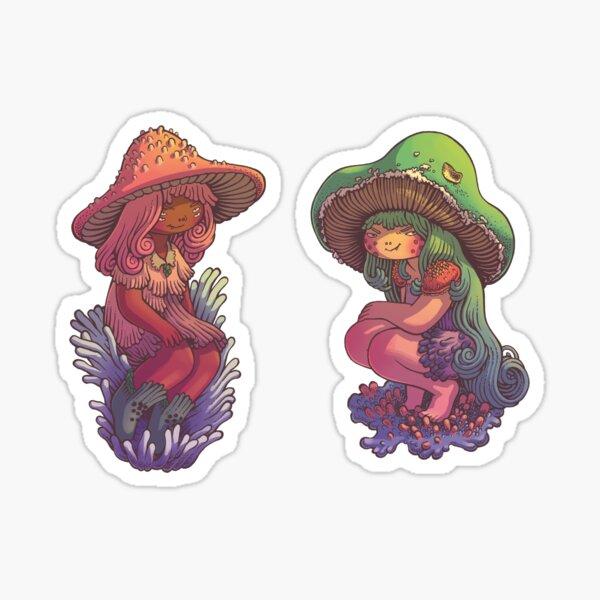 Teasing mushrooms Sticker