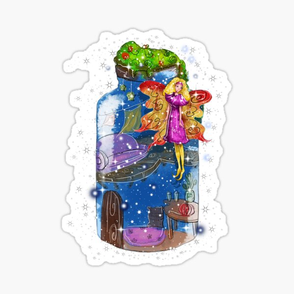 Molly The Mason Jar Fairy Sticker