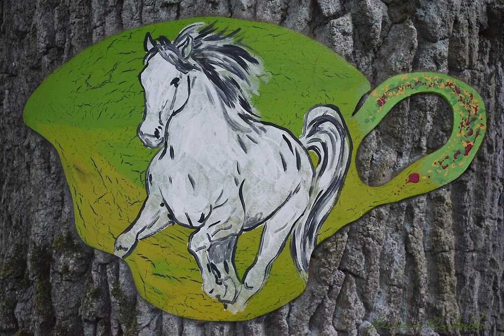 Horse Cup In An Oak by Juhan Rodrik
