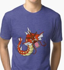 Rare Red Gyarados Tri-blend T-Shirt