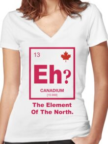Eh? Canadian Element of Canada Women's Fitted V-Neck T-Shirt