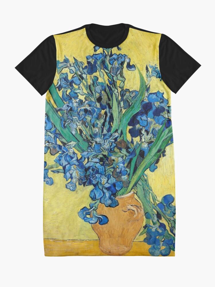 Alternate view of 1890-Vincent van Gogh-Irises-73,5x92 Graphic T-Shirt Dress