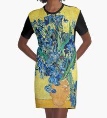 1890-Vincent van Gogh-Irises-73,5x92 Graphic T-Shirt Dress