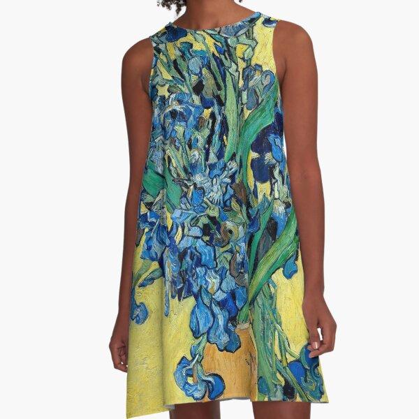1890-Vincent van Gogh-Iris-73,5x92 A-Linien Kleid