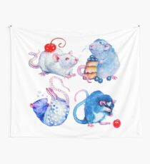 Sweet Rats Wall Tapestry