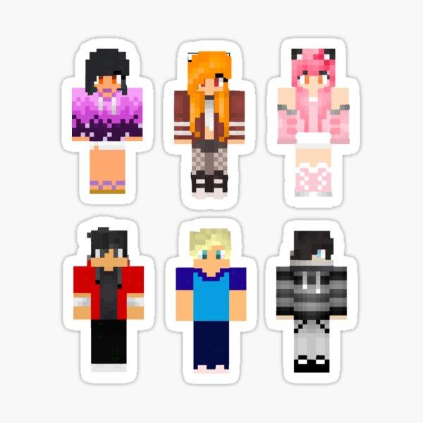 Aphmau Friends Minecraft Skins Sticker Pack Mystreet Sticker