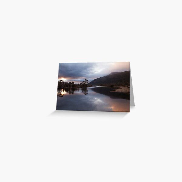 Sunrise - Narcissis River Overland Track Greeting Card