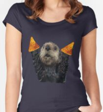 Dorito Otter Women's Fitted Scoop T-Shirt