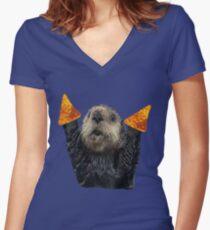 Dorito Otter Women's Fitted V-Neck T-Shirt