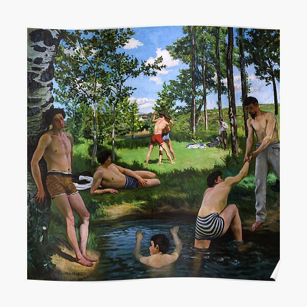 Summer Scene (Bathers) by Jean-Frédéric Bazille Poster