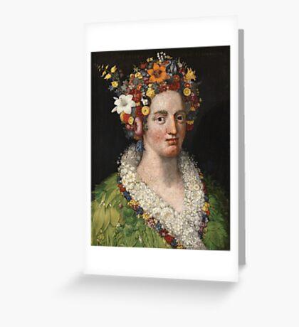Giuseppe Arcimboldo - Flora 1589 Greeting Card