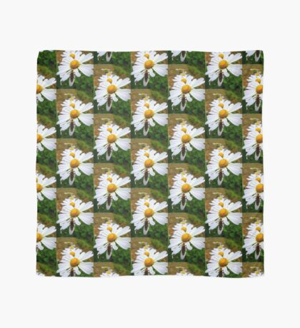 Marguerite Daisies and a Margined Leatherwing  Scarf