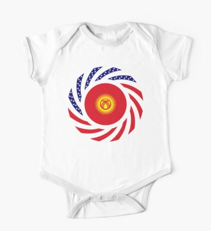 Kyrgyzstan American Multinational Patriot Flag Series Kids Clothes