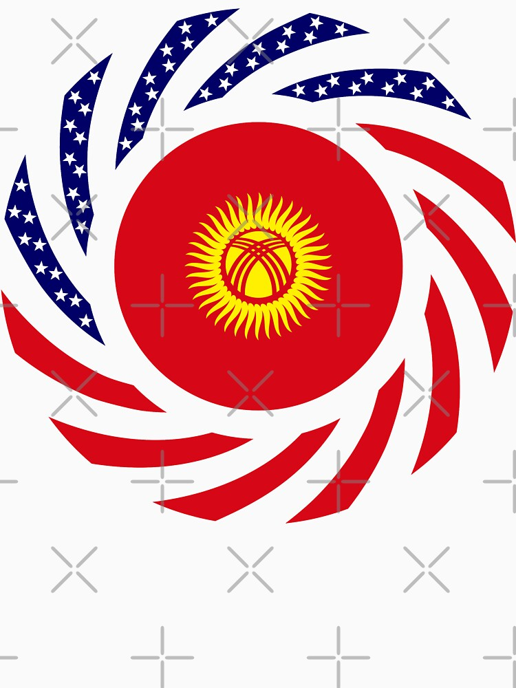 Kyrgyzstan American Multinational Patriot Flag Series by carbonfibreme