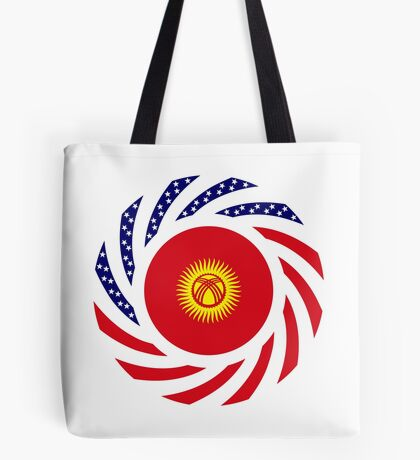 Kyrgyzstan American Multinational Patriot Flag Series Tote Bag