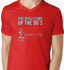 Math Equation: This really sums up the 90's Men's V-Neck T-Shirt
