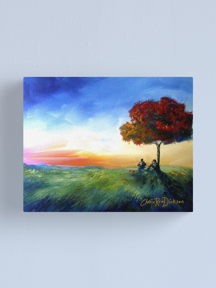 Alternate view of Sitting Under a Tree Canvas Print