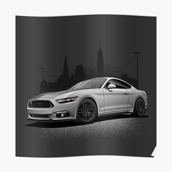 Mustang Art Vector City Poster