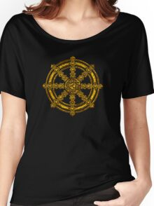 Dharma Wheel of Fortune, Buddhism, Auspicious Symbol Women's Relaxed Fit T-Shirt