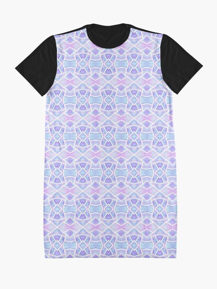 Robe t-shirt ''Mosaïque Bleue': autre vue