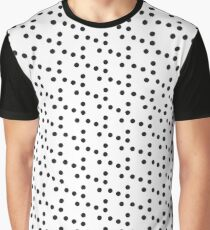 small black circle pattern Graphic T-Shirt