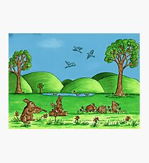 Country Bunnies Photographic Print