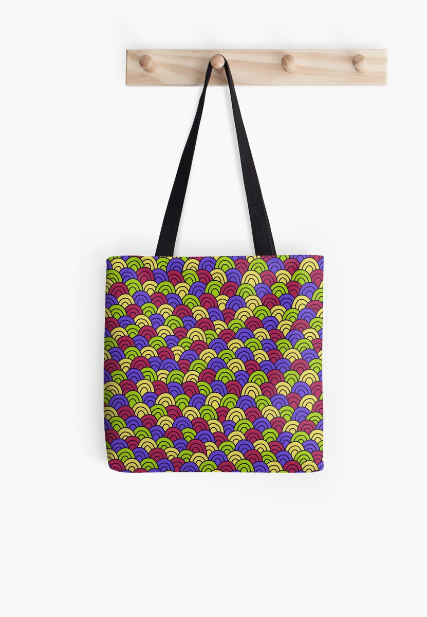 Simple doodle abstract pattern. Seamless colorful background.  by illucesco