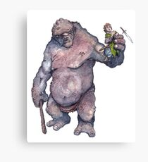 Bilbo and the Troll Canvas Print