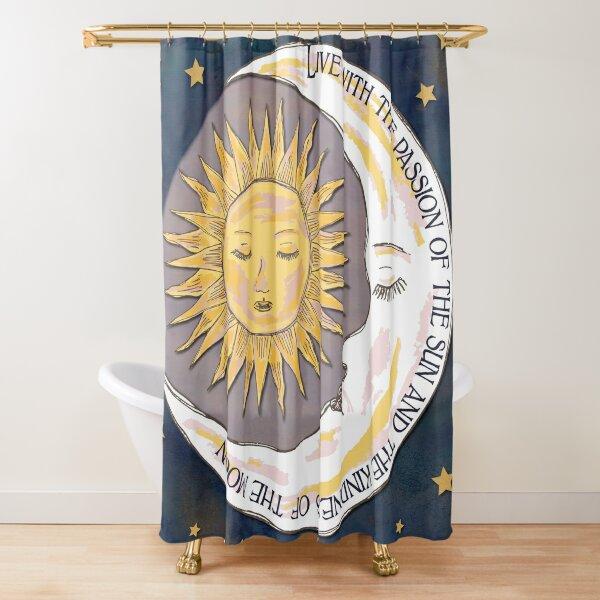 Sun, Moon and Stars Shower Curtain