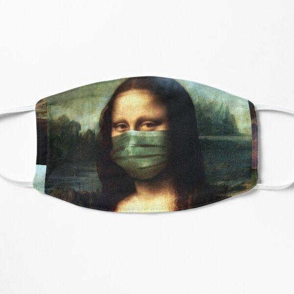 Socially Responsible Mona - Cloth Face Mask, Shirt, Pin (Button), and more! Flat Mask