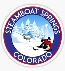STEAMBOAT SPRINGS COLORADO SKI BIKE HIKE MOUNTAINS SKI LIFT Sticker
