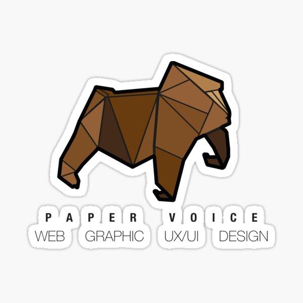 Paper Voice Logo 1 Sticker