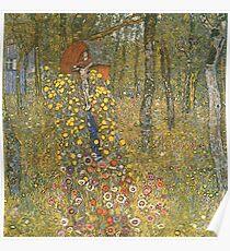 Gustav Klimt - Farm Garden With Crucifix 1912 Poster