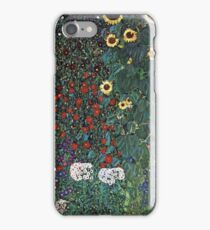 Gustav Klimt - Farm Garden With Sunflowers 1907 iPhone Case/Skin