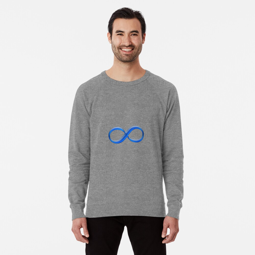 Infinity Symbol Lightweight Sweatshirt Front