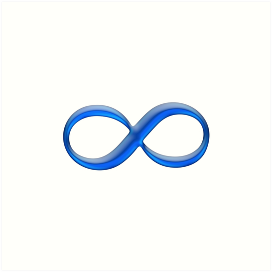 Infinity Symbol by Gold Target