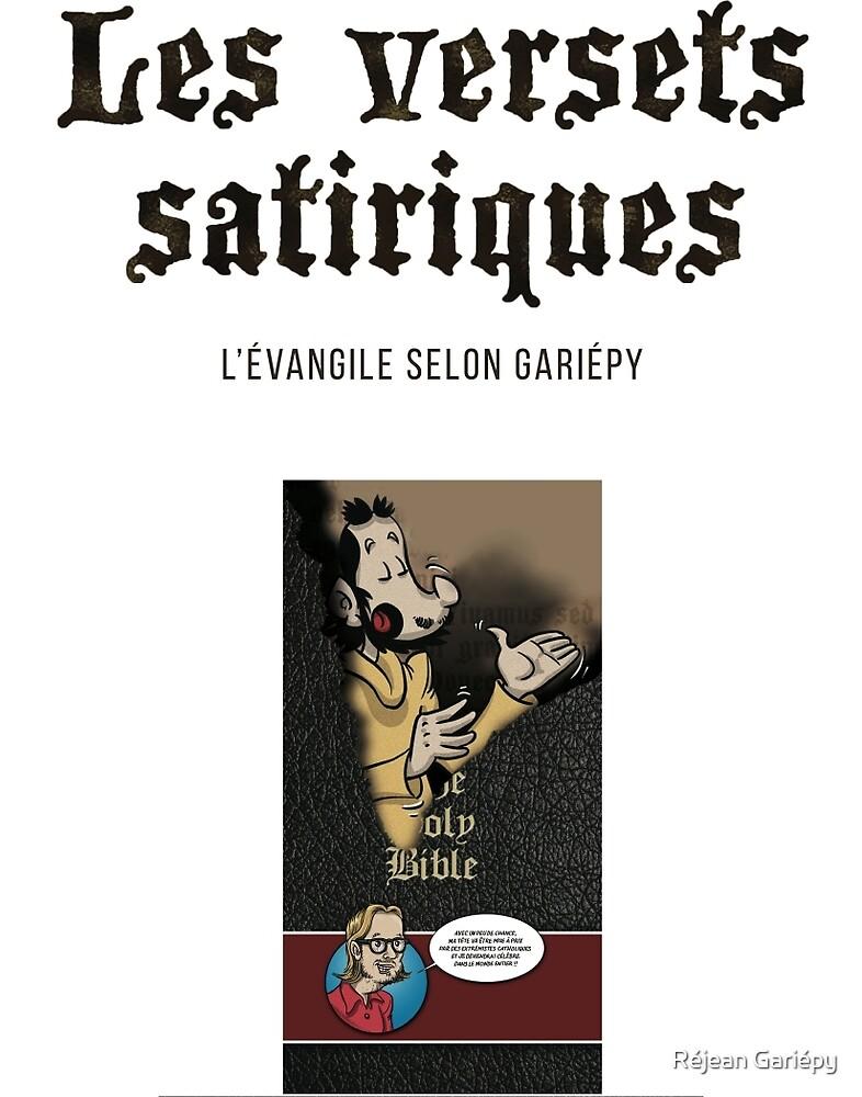 Satirical verses - cover page by Réjean Gariépy