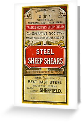 Sheep shears advertisement, Sheffield, Yorkshire by sheffarchives