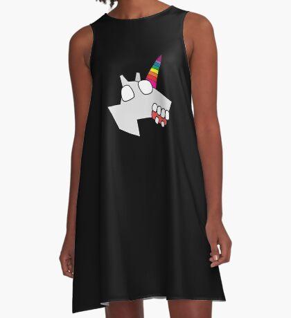 zombie unicorn A-Line Dress