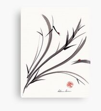 """""""My Dear Friend""""  Original ink and wash ladybug bamboo painting/drawing Canvas Print"""