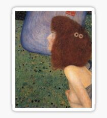 Gustav Klimt - Girl With Blue Veil, 1902 Sticker